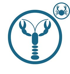 Crayfish and crab icons vector