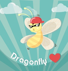 Dragonfly boy cool vector