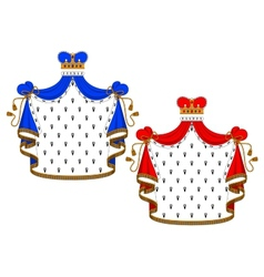 Red and blue royal mantles vector