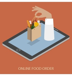 Online foood ordering concept vector