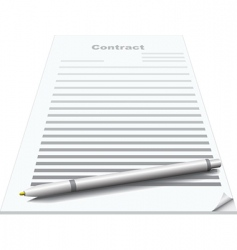 Contract and pen vector