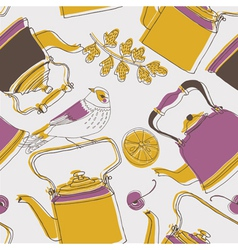 Tea kettle wallpaper vector