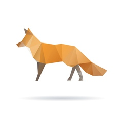 Fox abstract isolated on a white backgrounds vector