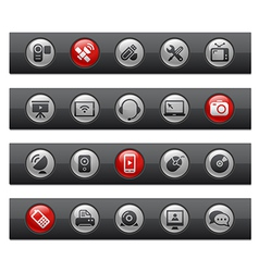 Communications buttons vector