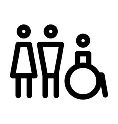 Man women and disabled sign vector