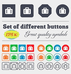 Suitcase icon sign big set of colorful diverse vector