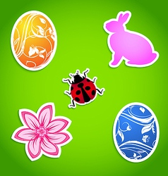 Set of easter colorful elements vector
