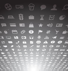 Web application icons collection vector