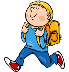Boy grade student cartoon vector