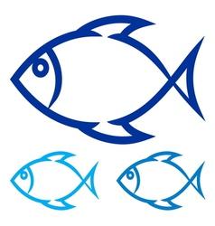 Fish symbol vector
