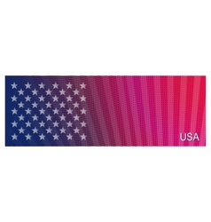 Bright stylized background usa patriotic design vector