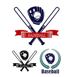 Baseball banners set vector