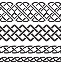 Set of celtic pattern borders vector