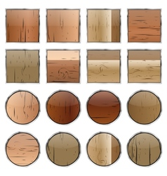 A set of wooden buttons vector