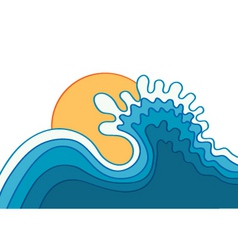 N oceanwater background with sunvector vector