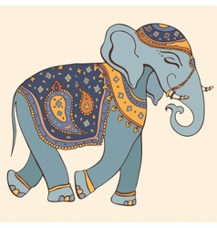 Elephant indian style vector