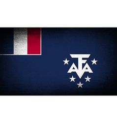 Flag of french southern and antarctic lands with vector