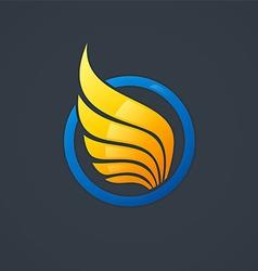 Wing symbol logo vector