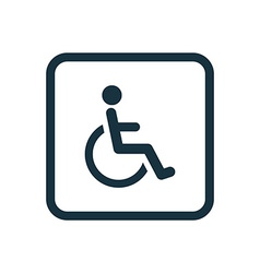 Cripple icon rounded squares button vector