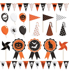 Halloween party pack vector