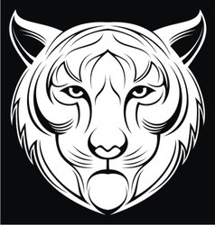 Tribal white tiger head vector