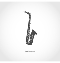 Musical instrument saxophone vector