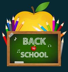 Welcome back to school with blackboard vector
