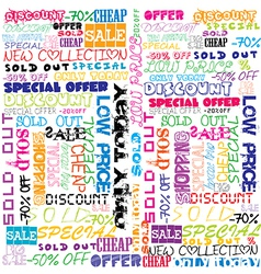 Background with colored sales and sold vector
