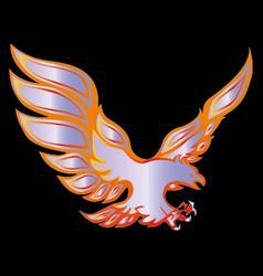 Fire eagle symbolic design freedom concept vector