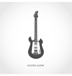 Musical instrument guitar flat icon vector