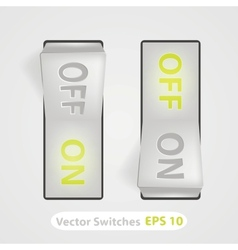 Realistic switch on and off positions vector