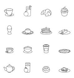 Breakfast icon outline vector