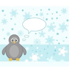 Penguin winter vector