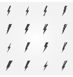 Lightning black icons vector