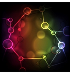 Neon molecule background vector