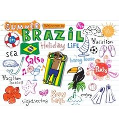 Summer in brazil vector