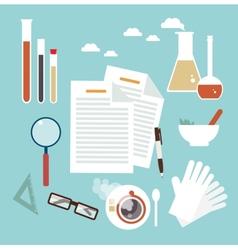 Desktop scientist chemist vector