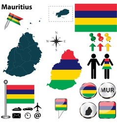 Mauritius map vector