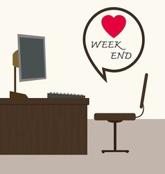 Weekend at office vector