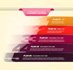 Colorful numbered banners vector