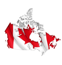 Canadian map flag vector