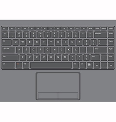 Laptop keyboard us vector