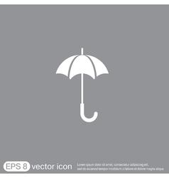 Umbrella icon protection from rain and moisture vector