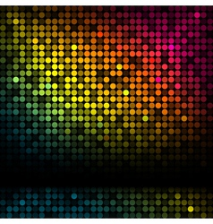 Disco background with colorful lights vector