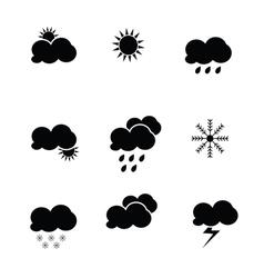 Weather icon black vector