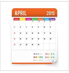 Calendar 2015 april vector