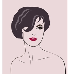 Woman elegant portrait vector