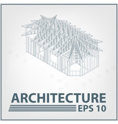 Architecture house project vector