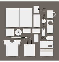 Empty design object folder bag label mug cards vector
