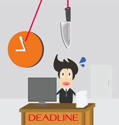 Businessman time deadline vector